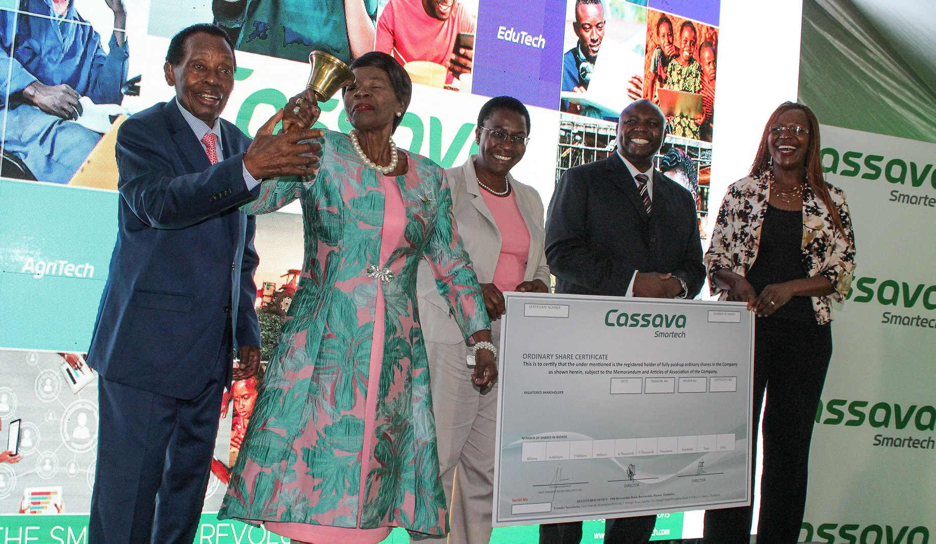 Cassava SmarTech lists on the Zimbabwe Stock Exchange