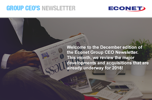 Econet Group CEO Newsletter - December 2017