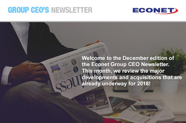 Econet Group CEO Newsletter - December 2017